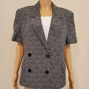 JH Collectibles Black/White Short Sleeve Blazer